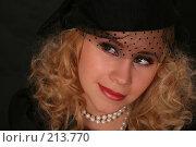 Купить «Портрет стильной женщины», фото № 213770, снято 27 февраля 2008 г. (c) Vdovina Elena / Фотобанк Лори