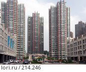 Купить «Три современных здания, Харбин, КНР», фото № 214246, снято 7 июля 2007 г. (c) Хижняк Сергей / Фотобанк Лори