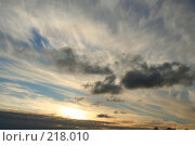 Купить «Закат», фото № 218010, снято 27 февраля 2020 г. (c) ElenArt / Фотобанк Лори