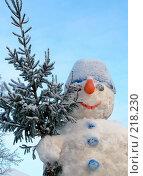 Купить «Снеговик», фото № 218230, снято 25 мая 2019 г. (c) ElenArt / Фотобанк Лори