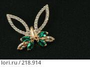 Купить «Золотое украшение  - бабочка», фото № 218914, снято 16 октября 2018 г. (c) ElenArt / Фотобанк Лори