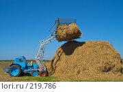 Купить «Стогоукладчик за работой», фото № 219786, снято 7 сентября 2004 г. (c) Иван Сазыкин / Фотобанк Лори