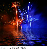 Купить «Праздничный фейерверк», иллюстрация № 220766 (c) ElenArt / Фотобанк Лори