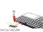 Купить «Продвинутый пользователь и карманный переводчик», фото № 222290, снято 29 февраля 2008 г. (c) Павел Савин / Фотобанк Лори