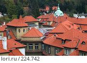 Купить «Крыши Праги», фото № 224742, снято 27 октября 2006 г. (c) Владимир Воякин / Фотобанк Лори