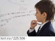 Купить «Ученик с маркером у доски», фото № 225506, снято 17 марта 2008 г. (c) Федор Королевский / Фотобанк Лори