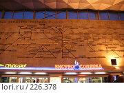 Купить «Схема движения поездов дальнего следования Московского вокзала Санкт-Петербурга», фото № 226378, снято 21 августа 2007 г. (c) Евгений Батраков / Фотобанк Лори