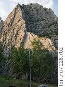 Купить «Асфальтированное шоссе среди горного ущелья. Болгария, около Враца», фото № 228702, снято 19 августа 2007 г. (c) Harry / Фотобанк Лори