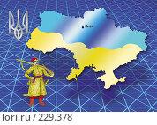 Купить «Карта Украины», иллюстрация № 229378 (c) Олеся Сарычева / Фотобанк Лори