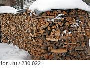 Купить «Поленница дров», фото № 230022, снято 2 февраля 2008 г. (c) Бушева Анастасия / Фотобанк Лори