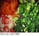 Нарезанные овощи с зеленью. Стоковое фото, фотограф lana1501 / Фотобанк Лори