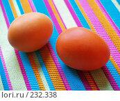 Купить «Яйца крашеные пасхальные», фото № 232338, снято 25 января 2007 г. (c) only / Фотобанк Лори