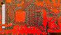 Красная печатная плата, фото № 232386, снято 26 мая 2017 г. (c) Роман Сигаев / Фотобанк Лори