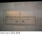 Купить «Могила Сальвадора Дали в театре-музее. Фигерас, Испания», фото № 233354, снято 20 июля 2007 г. (c) Филин Константин / Фотобанк Лори