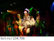 Купить «Индеец на мюзикле», фото № 234706, снято 26 марта 2008 г. (c) Суханова Елена (Елена Счастливая) / Фотобанк Лори
