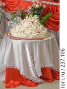 Купить «Свадебный торт», фото № 237106, снято 28 марта 2008 г. (c) Федор Королевский / Фотобанк Лори