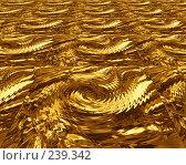 Купить «Золотистый абстрактный фон», иллюстрация № 239342 (c) ElenArt / Фотобанк Лори