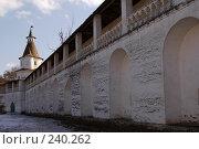 Купить «Истра. Стена и башня Воскресенского Ново-Иерусалимского монастыря», фото № 240262, снято 29 марта 2008 г. (c) Julia Nelson / Фотобанк Лори