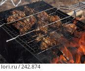 Купить «Мясо на решетке», фото № 242874, снято 5 апреля 2008 г. (c) Хижняк Сергей / Фотобанк Лори
