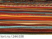 Купить «Образцы ткани. Фон», фото № 244038, снято 4 апреля 2008 г. (c) Tatiana Lykova / Фотобанк Лори