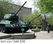 Купить «Великий танк Т-34», фото № 244938, снято 17 мая 2007 г. (c) RuS / Фотобанк Лори