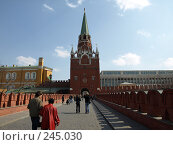 Купить «Троицкая башня Московского Кремля», фото № 245030, снято 6 апреля 2008 г. (c) Михаил Феоктистов / Фотобанк Лори