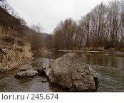 Купить «Вешние воды, Уссури», фото № 245674, снято 6 апреля 2008 г. (c) Олег Рубик / Фотобанк Лори