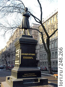 Купить «Памятник А.С. Пушкину в Санкт-Петербурге», фото № 248266, снято 21 января 2018 г. (c) Юлия Перова / Фотобанк Лори
