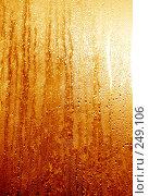 Купить «Золотистые капли на стекле», фото № 249106, снято 26 мая 2018 г. (c) ElenArt / Фотобанк Лори
