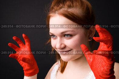 Купить «Приятная девушка», фото № 249914, снято 5 апреля 2008 г. (c) Андрей Андреев / Фотобанк Лори