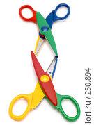 Купить «Разноцветные ножницы», фото № 250894, снято 12 апреля 2008 г. (c) Угоренков Александр / Фотобанк Лори