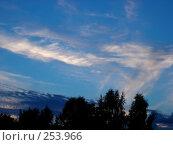 Вечернее небо, фото № 253966, снято 26 июля 2005 г. (c) Анастасия Некрасова / Фотобанк Лори