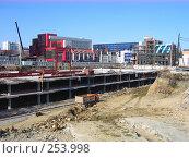 Строительство торгового центра, фундамент (2008 год). Стоковое фото, фотограф Филипп Яндашевский / Фотобанк Лори