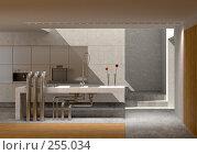 Кухня с окном в потолке, иллюстрация № 255034 (c) Юрий Бельмесов / Фотобанк Лори