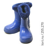 Купить «Сапоги синие теплые на белом фоне», фото № 255270, снято 18 апреля 2008 г. (c) Коннов Леонид Петрович / Фотобанк Лори