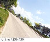 Купить «Севастопольское шоссе перспектива с наклоном горизонта. Крым», фото № 256430, снято 16 мая 2006 г. (c) Анатолий Заводсков / Фотобанк Лори