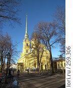 Купить «Собор Петра и Павла», фото № 259306, снято 26 февраля 2008 г. (c) Бяков Вячеслав / Фотобанк Лори