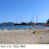 Купить «Пляж Средиземного моря. Греция», фото № 262466, снято 28 июня 2007 г. (c) Юлия Селезнева / Фотобанк Лори