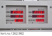 Купить «Автомат заправки бензина. Счетчик», фото № 262982, снято 25 апреля 2008 г. (c) Валько Андрей Викторович / Фотобанк Лори