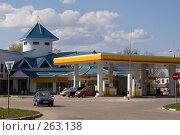 Купить «Автозаправочная станция Shell», фото № 263138, снято 26 апреля 2008 г. (c) Julia Nelson / Фотобанк Лори