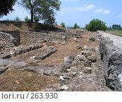 Купить «Раскопки древнего города вблизи Олимпа. Греция», фото № 263930, снято 29 июня 2007 г. (c) Юлия Селезнева / Фотобанк Лори