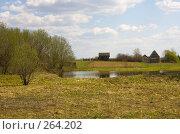 Купить «Озеро, поле, лес», фото № 264202, снято 27 апреля 2008 г. (c) Биржанова Юлия / Фотобанк Лори