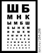 Купить «Таблица для проверки зрения», фото № 264298, снято 10 марта 2008 г. (c) Анна Маркова / Фотобанк Лори