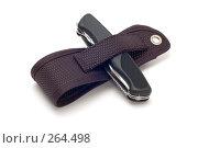Купить «Нож с чехлом», фото № 264498, снято 28 апреля 2008 г. (c) Угоренков Александр / Фотобанк Лори