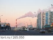 Купить «Индустриальный пейзаж в Переделкино на закате», фото № 265050, снято 4 января 2008 г. (c) Эдуард Межерицкий / Фотобанк Лори