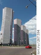 Купить «Высотные новостройки и красный автомобиль на Ходынке, Москва», фото № 267594, снято 27 апреля 2008 г. (c) Fro / Фотобанк Лори