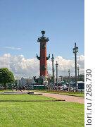 Купить «Санкт-Петербург. Ростральные колонны», фото № 268730, снято 28 июня 2005 г. (c) Александр Секретарев / Фотобанк Лори