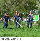 Купить «Стрижка газонов», эксклюзивное фото № 269118, снято 30 апреля 2008 г. (c) lana1501 / Фотобанк Лори