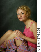 Купить «Улыбающаяся девушка», фото № 274254, снято 23 апреля 2005 г. (c) Морозова Татьяна / Фотобанк Лори