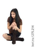 Купить «Красивая девушка», фото № 275214, снято 10 декабря 2007 г. (c) Ольга Сапегина / Фотобанк Лори